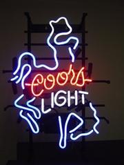 COORS LIGHT RODEO COWBOY BEER BAR NEON SIGN