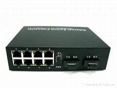 8*100 base UTP ports+2*1000 base fiber ports Switch