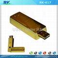 Gold Bar Built-in Windproof Flameless USB Lighter