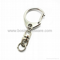 Fashion metal key ring keychain