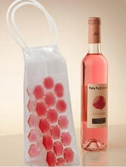 Liquid Filled Fashion Wine Cooler Bags and Packing PVC Ice Bag