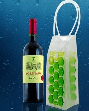 Liquid Filled Fashion Wine Cooler Bags and Packing PVC Ice Bag 2