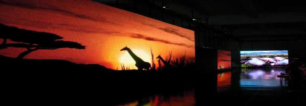 陝西浩博戶外玻璃幕牆LED顯示屏 3