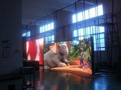 陝西浩博P6室內弧形LED全彩顯示屏