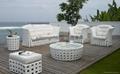 2013室内外铝框白色PE藤沙