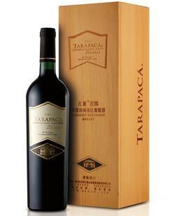 智利紅蔓莊園赤霞珠梅洛紅葡萄酒木盒裝750ml 1