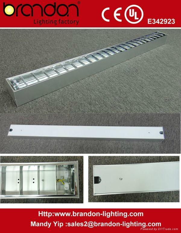 T5 suspended Grille Aluminum office light fixture  1