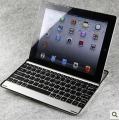 Aluminum Wireless Bluetooth 3.0 Keyboard Case Cover Stand for ipad2 ipad3