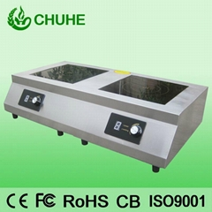 Double burner electric induction hobs