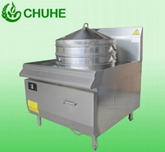 Heavy duty commercial induction steamer