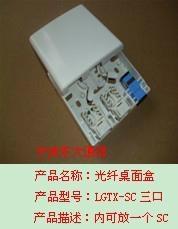 SC三口光纖桌面盒