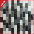 Rectangular glass mosaic blend