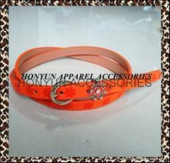 women PU leather belts