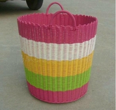 Sell laundry basket/pp woven basket/storage basket/straw basket