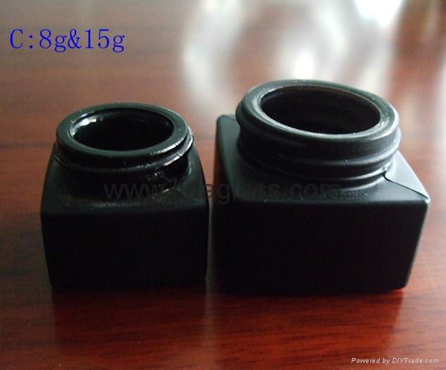 黑色蒙砂小膏霜玻璃瓶 2