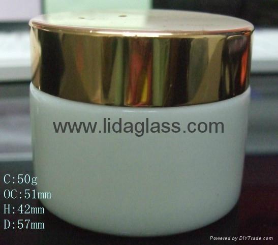 White porcelain glass bottle cream jars 4