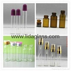 perfume tube glass bottle