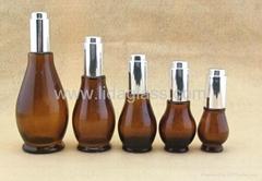 European Style Amber Essential Oil Glass Bottle LDJ-103