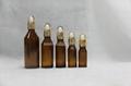 European Style Amber Essential Oil Glass Bottle LDJ-103 3