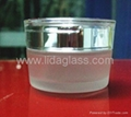Glass frosted cream jar