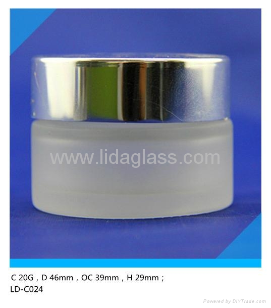 Glass frosted cream jar  4