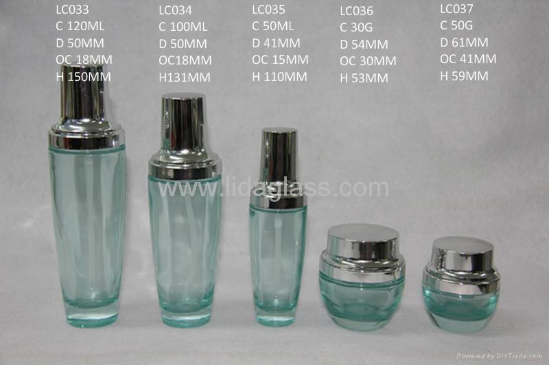 Cream jar cosmetics packing glass bottle 2