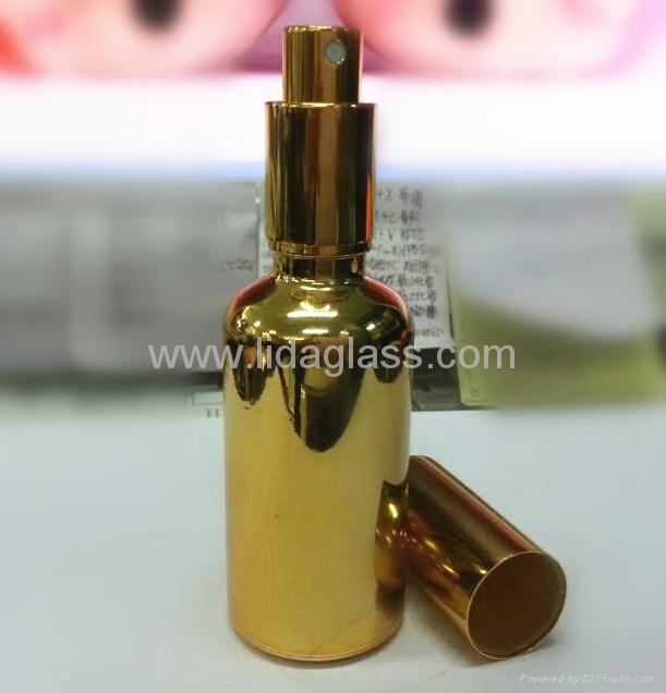 Electroplating glass bottle with sprayer 1