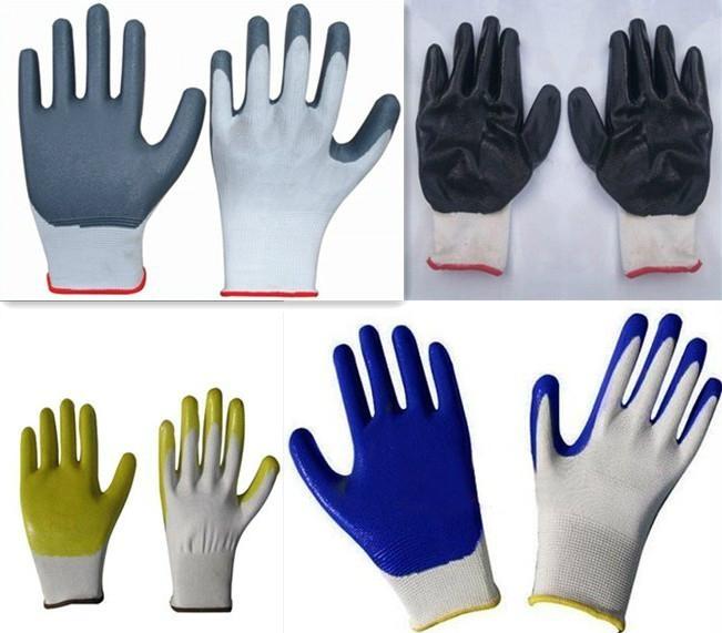 Nitrile coated nylon gloves  1