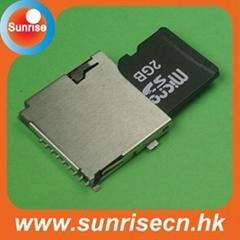 Push Micro SD card connector