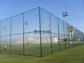 湖南体育场外围绿色菱形钢丝防护