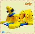 2013 new design inflatalble yellow water slide