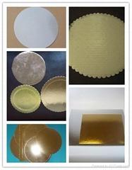 golden & silver cake boards,cake boards