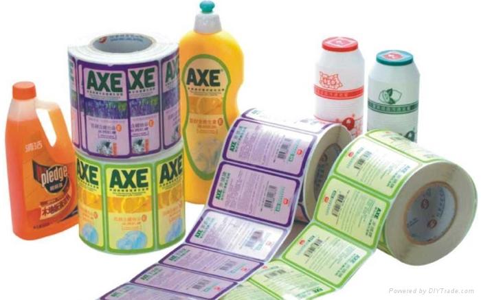 塑料瓶不干膠標籤印刷 1