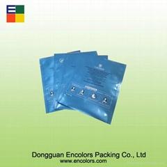 Colorful 3 side sealed facial mask bag