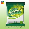 Heat-seal plastic snack bag with tear