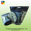 Stand up plastic nuts bag with handle