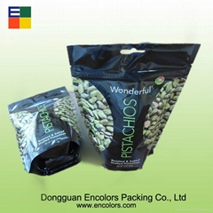 Stand up plastic nuts bag with handle hole