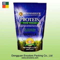 High quality nature plastic chocolate protein powder bag