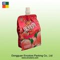 Peach juice plastic packaging bag