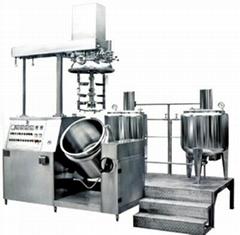 Vacuum emulsifier unit