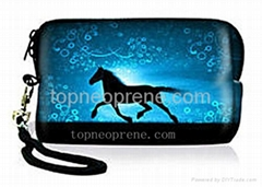 neoprene Camera Case Bag Pouch With Strip Cellphone Iphone Pouch Coin Purse