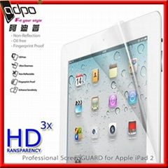2013 newest clear screenguard for ipad2