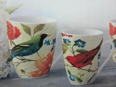 Open stock milk mug with singing bird