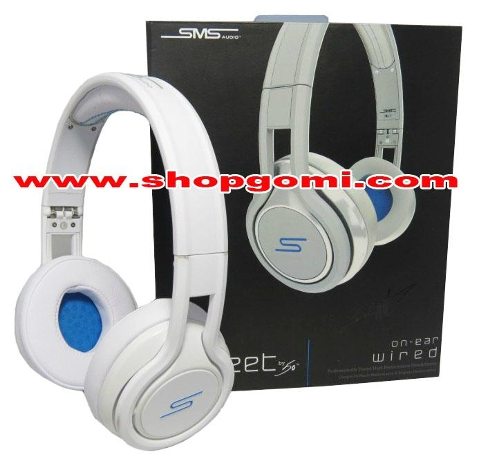 ee91149b2df SMS Audio Street by 50 Cent Professionally Tuned Over-ear Wired Headphone  White 1 ...