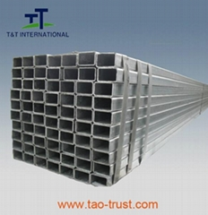 Galvanized  rectangular steel tube
