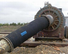 Rubber hose for dredge