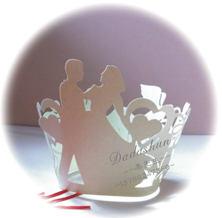 Wedding greeting cards invitations cake around edge hollow wholesale 4