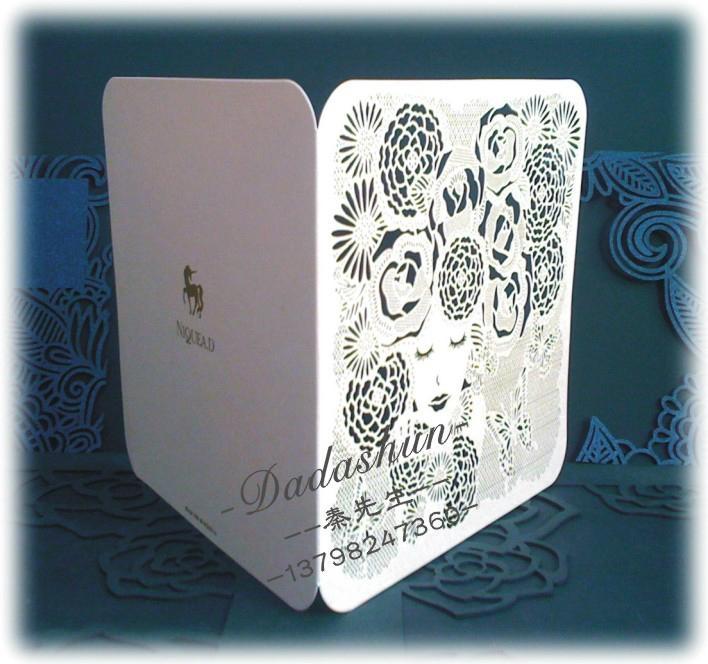 Wedding greeting cards invitations cake around edge hollow wholesale 5