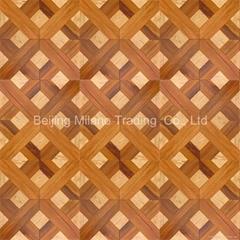 custom logo wood parquet flooring