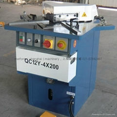 QF28Y4 200 Hydraulic corner notcher for aluminum plate sheet manufacture